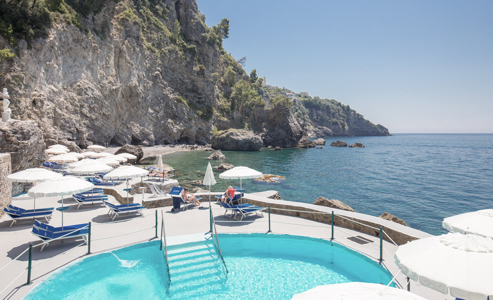 The 4 Star Grand Hotel Tritone Not Only Offers A Fantastic Cliff Face Location On Gorgeous Amalfi Coast But Also Provides Guests With Private Beach